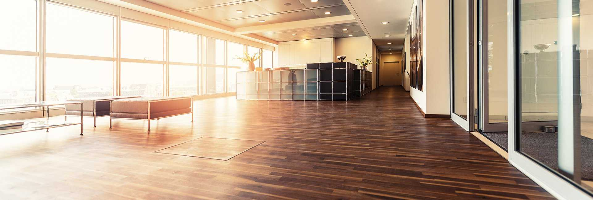 commercial hardwood floor refinishing in Barrington
